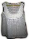 Летняя блузка (с вязанными мотивами на кокетке)
