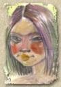 Портрет акварель в стиле гротеск (A4)