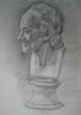 Портрет Вольтера (гипсовый слепок) (карандаш) A2