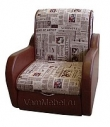 Кресло- кровать Виктория/ Газета 009+кожзам