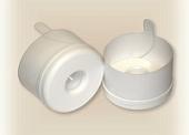 Пробка форма № 1 белая без этикетки