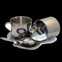 """Пресс-фильтр с чашкой, № 8 Пресс-фильтр для приготовления молотого кофе """"по-вьетнамски"""" с чашкой. Нержавеющая сталь, объем - 210 мл"""