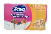 Полотенца буммажные ZEWA Декор 2-х сл. 4 рулона (8 шт. в упаковке)