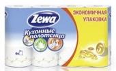 Полотенца бумажные Zewa 2-х сл. 4 рулона белые (8 шт. в упаковке)