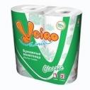Бумажные полотенца Linia Veiro Classic 2-х сл. белые 2 рулона (12 шт. в упаковке)