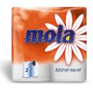 Бумажные полотенца Моla 2-х сл. белые 2 рулона (10 шт. в упаковке)