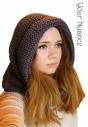 Серая шапка шарф