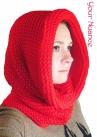 Красная шапка шарф