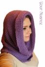 Фиолетовая шапка шарф
