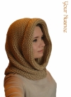 Охровая шапка шарф