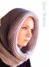 Светло серая шапка шарф