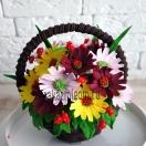 Шоколадные цветы в корзинке Осенняя пора