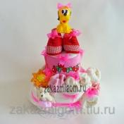 Торт из памперсов С рождением