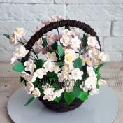 Шоколадные цветы в корзинке Майский день